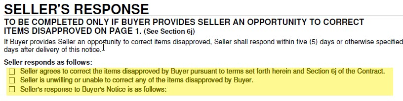 sellers response