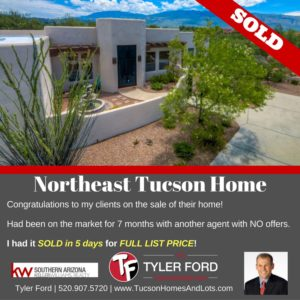 TUCSON HOME SOLD IN 5 DAYS! 10 REASON AS TO WHY?