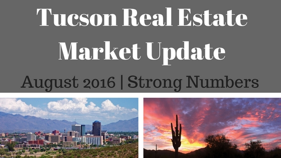 Tucson Residential Market Update August 2016