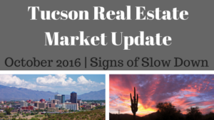 Tucson Residential Market Update October 2016