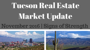 Tucson Residential Market Update November 2016