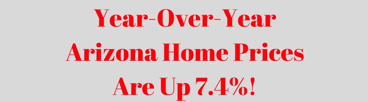 Arizona Home Prices Up 7.4%! [INFOGRAPHIC]