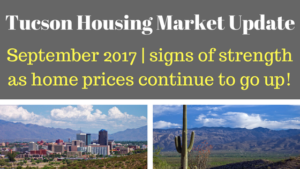 Tucson Arizona Housing Market Update September 2017